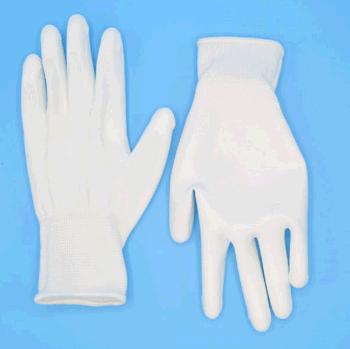 13G 白PU掌浸手套