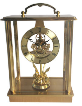 石英透视机芯台钟