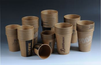 Unbleached paper cups