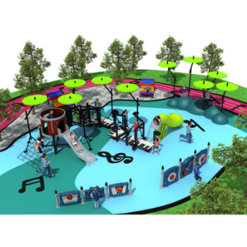 Trampoline Park, Customized Outdoor and Indoor Playground Equipment