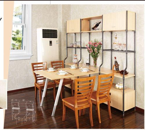 新款钢木组合家具架
