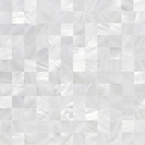 Freshwater Shell White 20*20 without Gap Mosaic