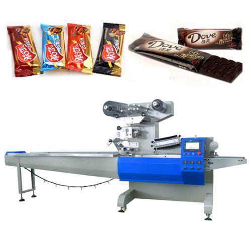 Low Price High Speed Cookie / Card/ Cake/ Bread Packing Machine in Foshan Factory