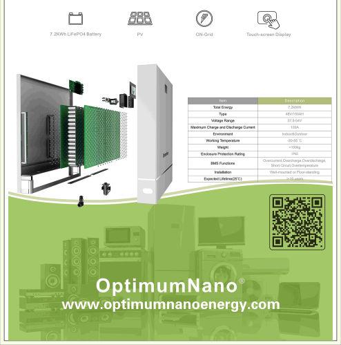 7.2kwh 挂墙储能柜 储能包 磷酸铁锂电池